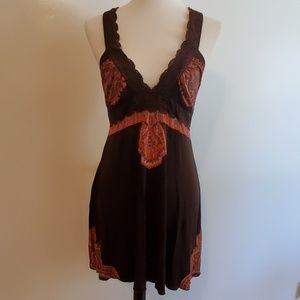 Vintage Free People Crochet Strap Halter Dress